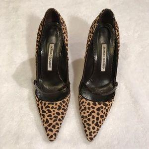 Manolo Blahnik Leopard Print Heels